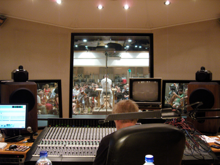 Control Room During Recording Sessions