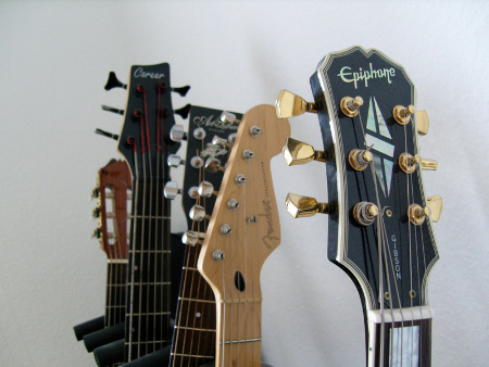 Alex Pfeffer's Guitars