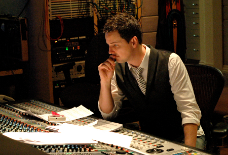Jason Graves at Skywalker Sound Desk