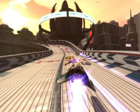 Screenshot from Wipeout HD, which inpired the album CoLD SToRAGE HD