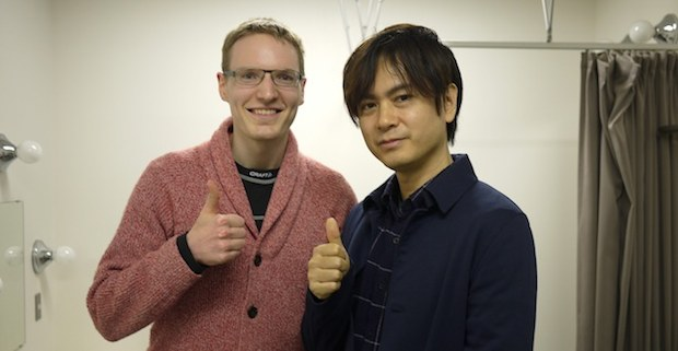 Me meeting Yuzo Koshiro after the concert