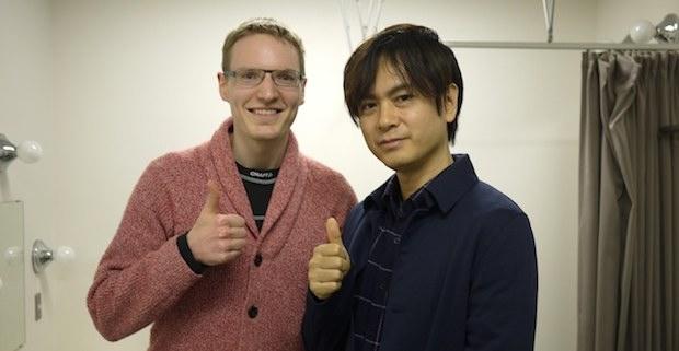 Me meeting Yuzo Koshiro after the concert