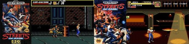 Streets of Rage 1 & 2 box arts and screenshots