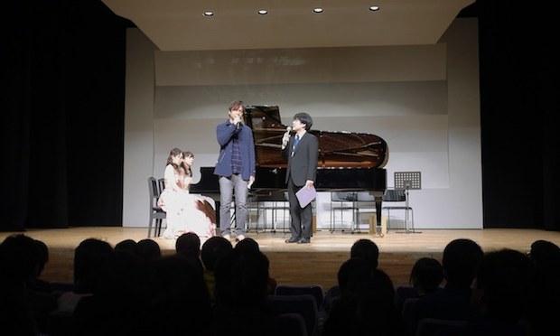 Yuzo Koshiro and Yusuke Ichihara on stage